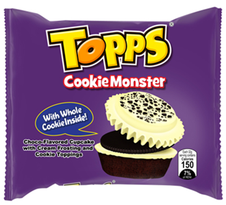 Cupp Keyk Topps Cookie Monster 10bagsx10pcsx35g